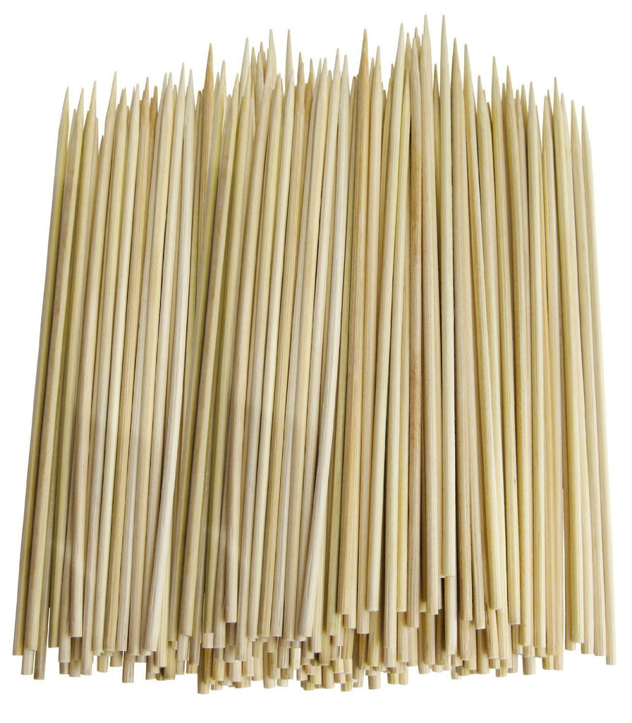 "True Craftware 10"" Inch Bamboo Skewers - 3.0mm - BBQ, Shish Kabobs, Appetizers (Pack of 600)"