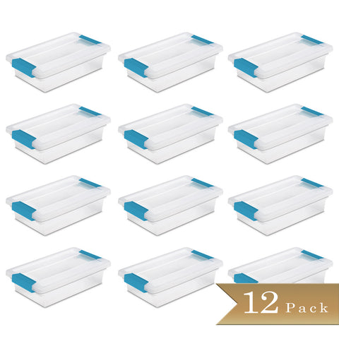 Set of 12 - True Craftware Small Container Clip Lid Box