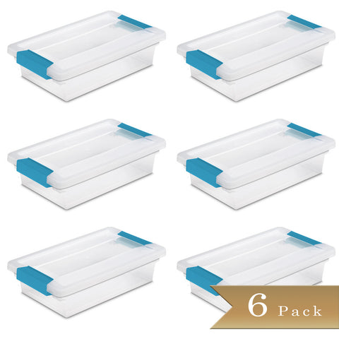 Set of 6 - True Craftware Small Container Clip Lid Box