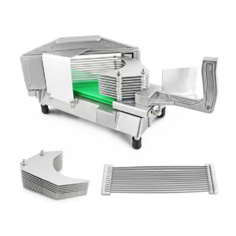True Craftware - Commercial Tomato Slicer with Stainless Steel Blades and Built-in Cutting Board - Thin 3/16