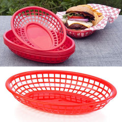 "True Craftware Red Fast Food Baskets - 9 1/4"" X 5 3/4"" - (Pack of 36)"