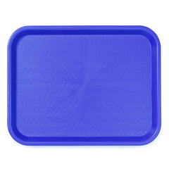 "TrueCraftware Plastic Fast Food Trays 12 x 16"" - Cafeteria Trays - Food Serving Trays - Restaurant Trays - Assorted Colors (Set of 12)"