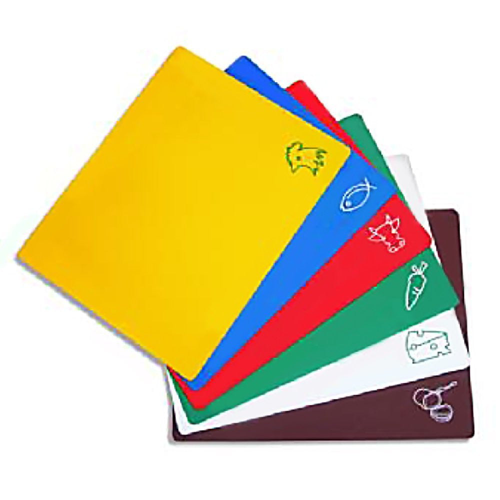"Set of 6 - True Craftware Flexible Cutting Boards in Assorted Colors - 15"" x 12"" Inches"