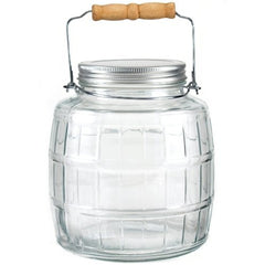 True Craftware 1 Gallon - Glass Barrel Jar with Lid and Handle