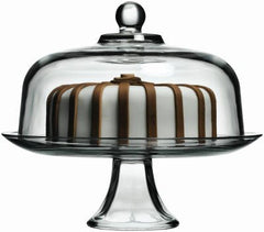 "True Craftware 13"" Cake Platter and 11.5"" Cake Dome Set"