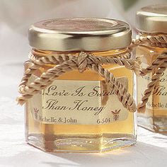12 - True Craftware 4 oz Hexagon Glass Jars with Gold Covers - Pack of 12 - Jars for Jams, Honey, Sauces, Spices 120ml