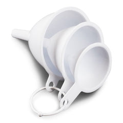 12 Piece - True Craftware White Plastic Funnel Set