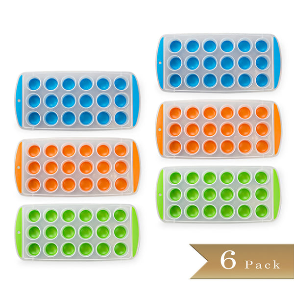 Set of 6 true craftware easy push out ice cube molds for Colors that pop out