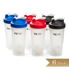 Set of 6 - True Craftware Bottle Shaker - Shake bottle with Wire Whisk - 28 oz