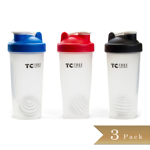 Set of 3 - True Craftware Bottle Shaker - Shake bottle with Wire Whisk - 28 oz