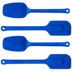 "True Craftware Premium Solid Silicone Spatula Set - Assorted Color Sets in Blue or Green - 11"" (4 piece set)"