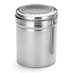 TrueCraftware - Stainless Steel Dredge Shakers - 10 Ounce - Spice Shaker - 10 oz Spice Dispenser for Cooking - Powder Sugar Shaker (Set of 12)
