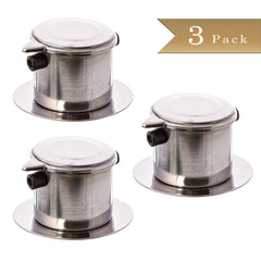 Set of 3 - True Craftware Stainless Steel - Single Cup Coffee Brewer Infuser Filter