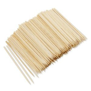 "True Craftware Appetizer 4"" Wooden Skewers - 400 pieces"