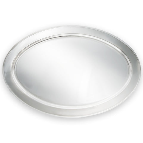 True Craftware Oval Stainless Steel Platter - Serving Tray - 21 3/4