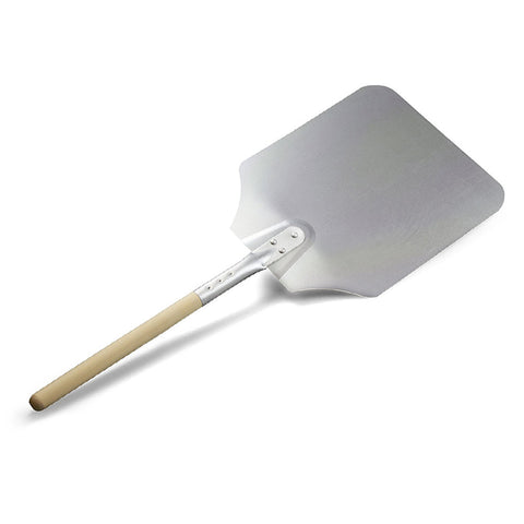 TrueCraftware Reinforced Aluminium Pizza Peel with Wooden Handle and Tapered Edges 16