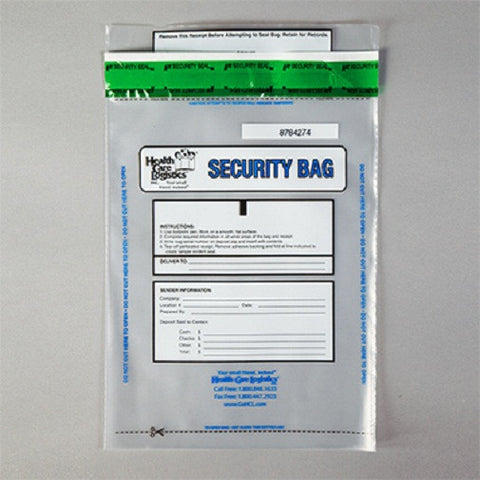 Health Care Logistics Alert Void Security Bag, Clear, 8 x 10 - Artxmedical
