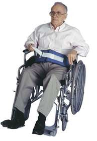 SkiL-Care 301250 Resident-Release Soft Wheelchair Belt With Hook & Loop Closure - Artxmedical