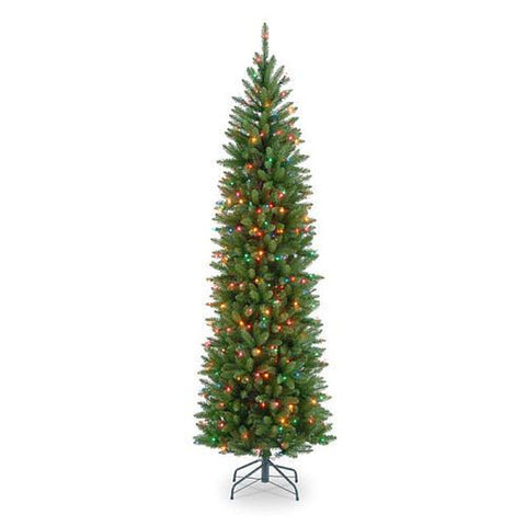 Kingswood Fir Hinged Pencil Tree 7 1/ 2 foot with 350 Multi Lights - Artxmedical