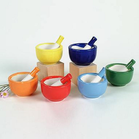 Colorful Mortar and Pestle