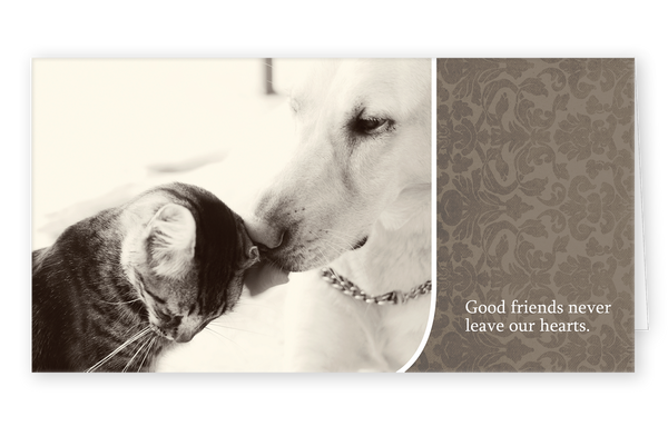 Sympathy Cards for Pets - Good Friends Series