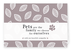 Sympathy Cards for Pets - Heartfelt Series