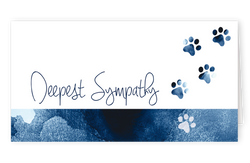 Sympathy Cards for Pets - Paws to Remember Series
