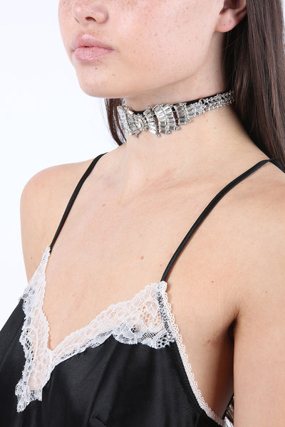 Divine Choker in Black and Clear