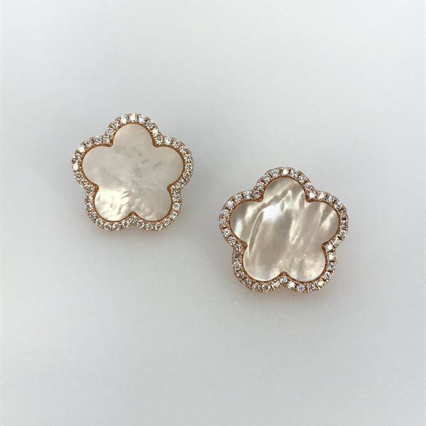 Mother of Pearl Flower Shaped Earrings