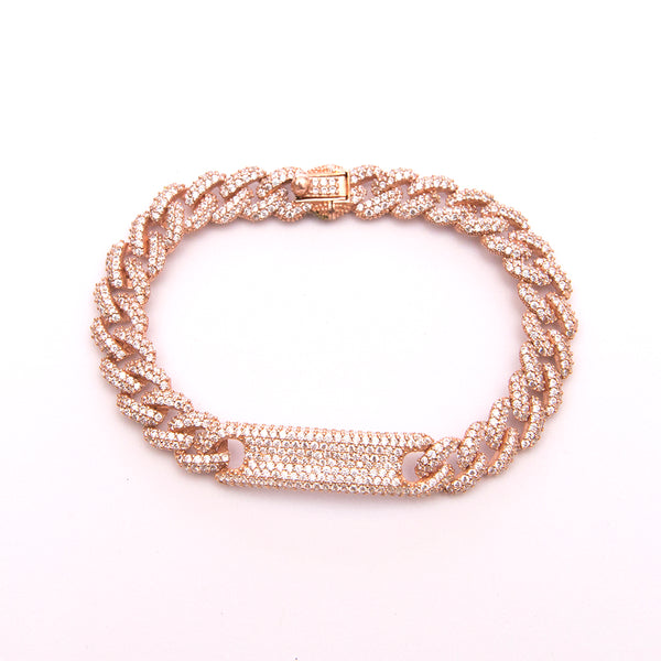 Bar Bracelet in Plated Rose Gold