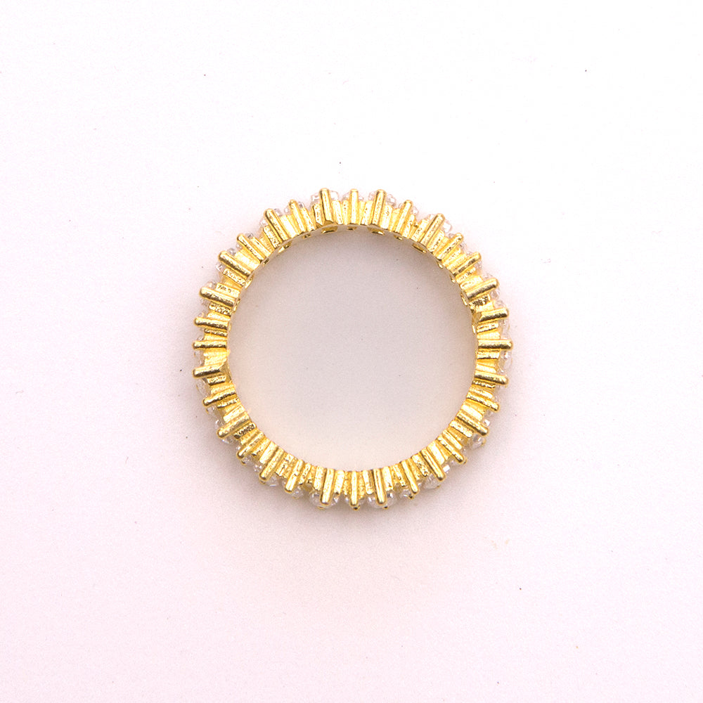 Gold Plated Ring with Baguettes