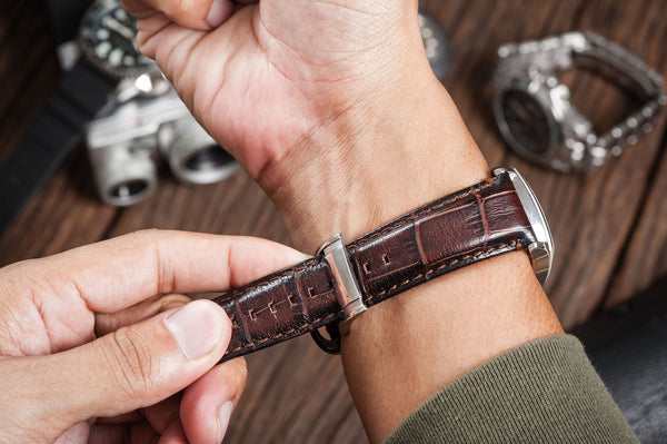 custom made alligator watch bands