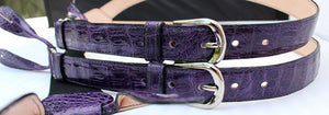 purple suspenders crocodile