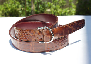 polo style double d ring belt