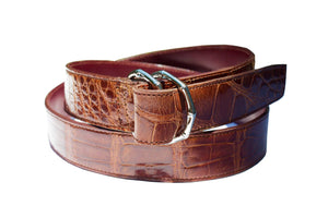 double d ring alligator belt