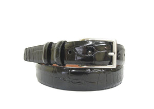 Signature Alligator Mens Belt, Black - Accenti Leather