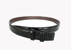 Black Alligator Strap for Tiffany Slide Buckle