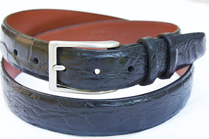 matte alligator skin belt