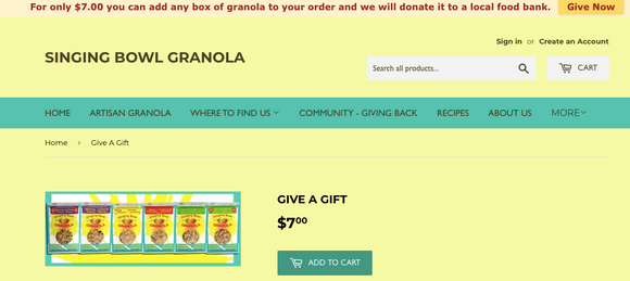 'Give Now' button on website page.