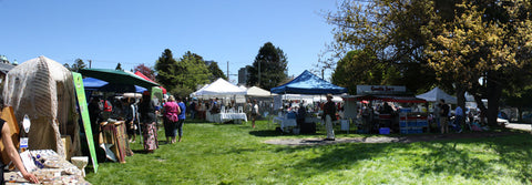 a sunny day at James Bay Market