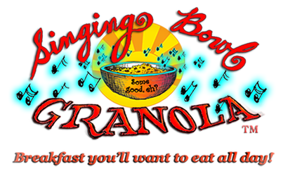 The Logo for Singing Bowl Granola, artisan granola and speciality porridge producers