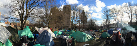 Hundreds of people called Tent City home.