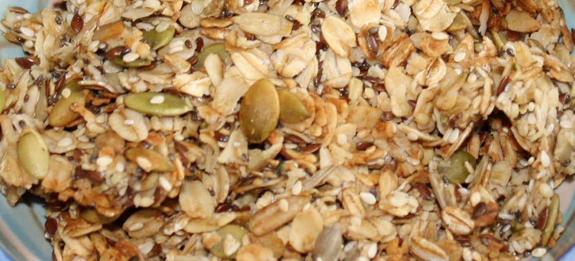 Mega Medley granola - a combination of healthy seeds and organic oats