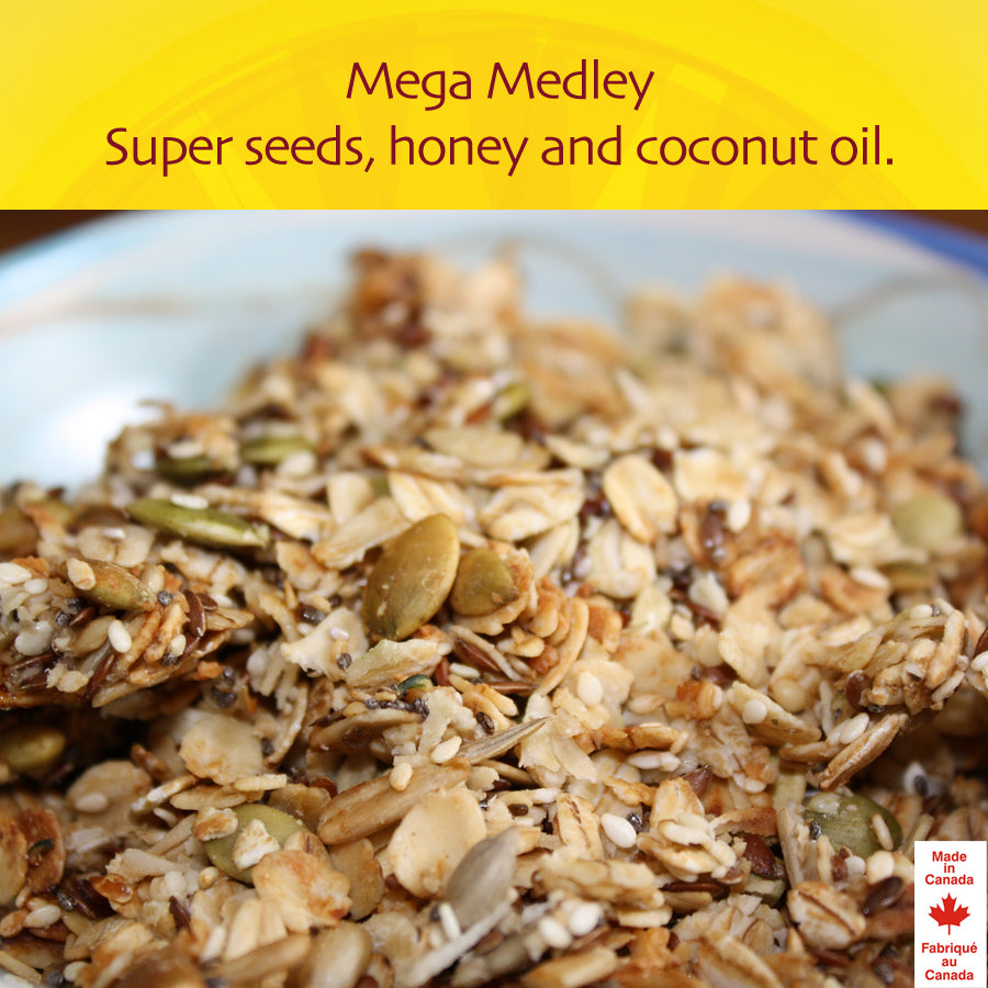 Mega Medley - Super Seeds and Organic Coconut Oil, sweetened only with Honey