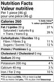 Peanut Butter Crunch Bar Nutritional Values