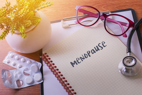"""a journal with the word """"menopause"""""""