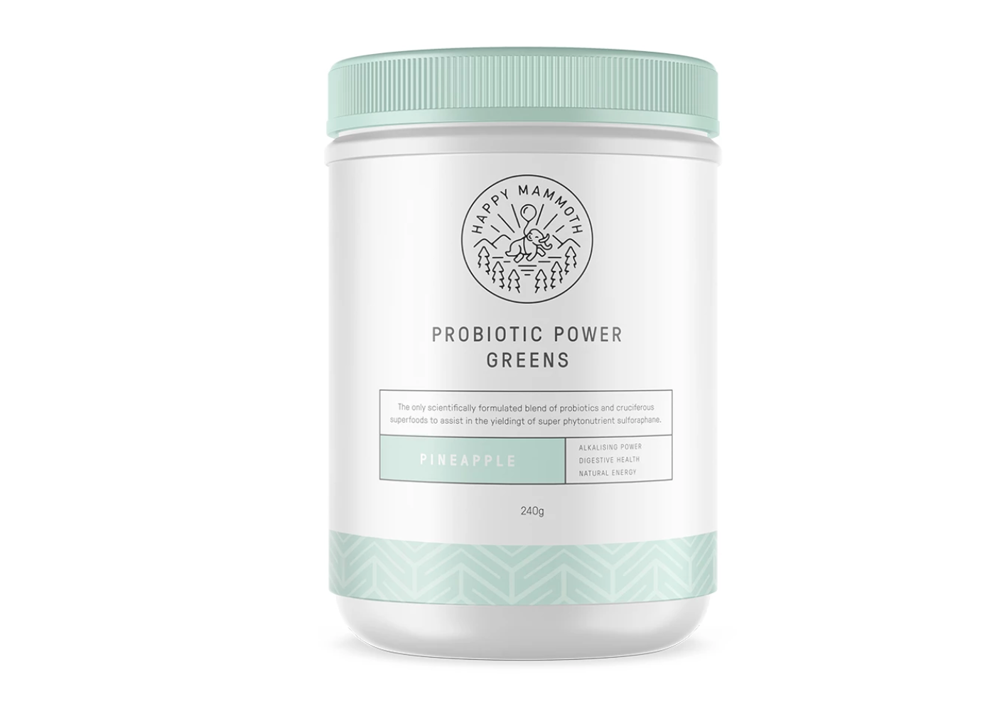 Menopause supplements: Happy Mammoth Probiotic Power Greens
