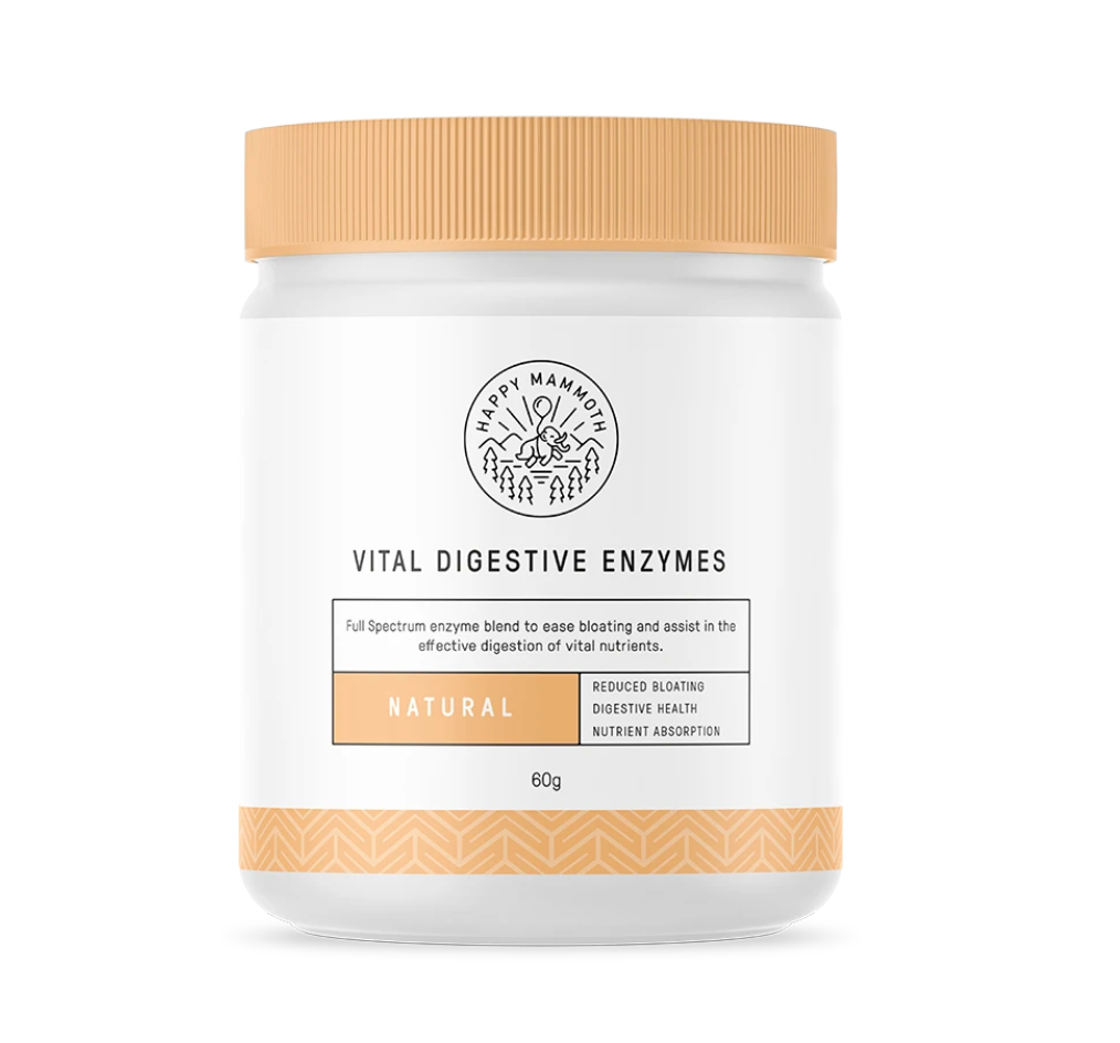 A bottle of vital digestive enzymes keto supplements