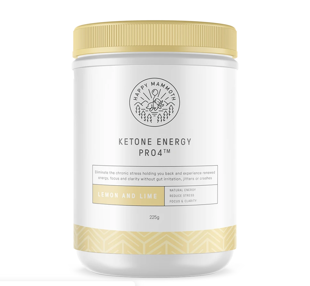 A bottle of Ketone Energy Pro4 keto supplements