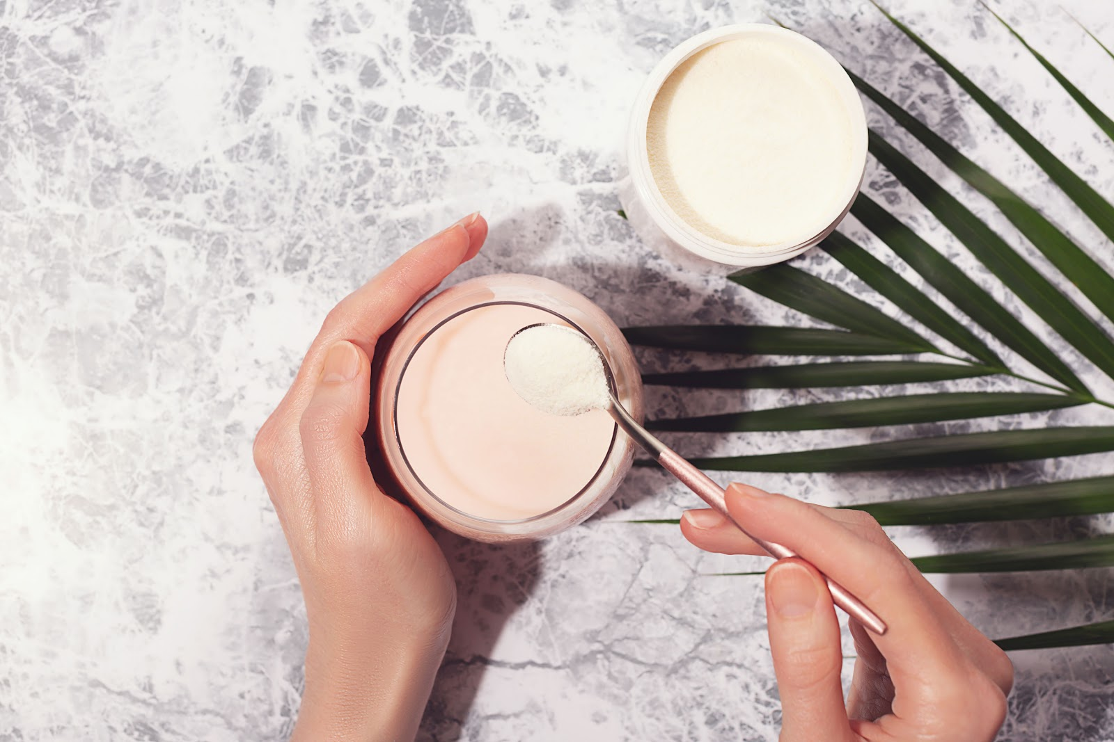 Protein powder can be among the foods with collagen